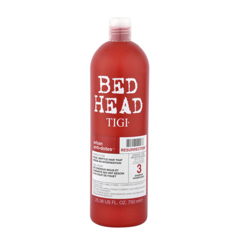 Tigi Urban Antidotes Resurrection Shampoo 750ml - shampooing restructurant niveau 3
