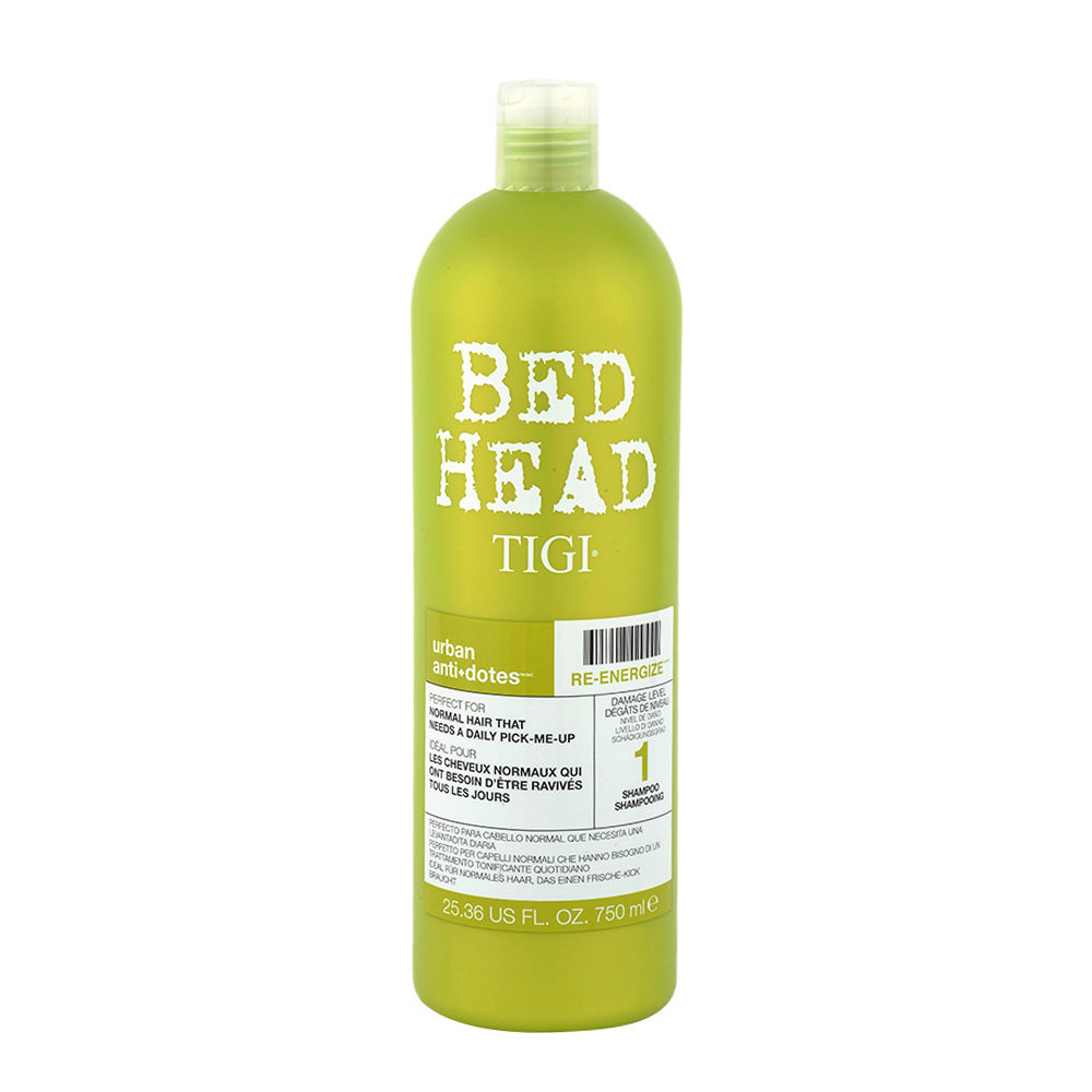 Tigi Urban Antidotes Re-Energize Shampoo 750ml - shampooing restructurant niveau 1