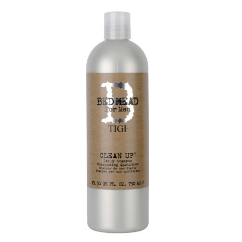 Tigi Bed Head Men Clean up Daily Shampoo 750ml - shampooing quotidien