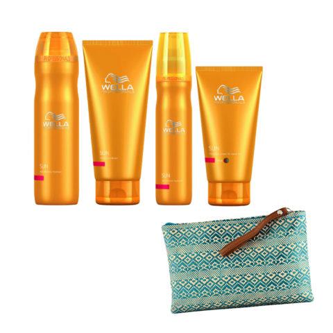 Wella Sun Hair and body shampoo 250ml Express Conditioner 200ml Hydrator 150ml Cream thick hair 150ml Cadeau pochette