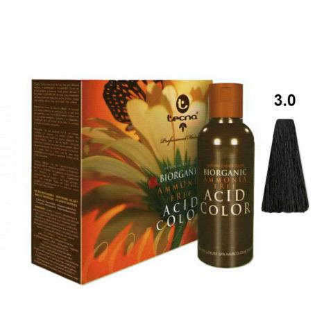 3.0 Châtain foncé Tecna NCC Biorganic acid color 3x130ml