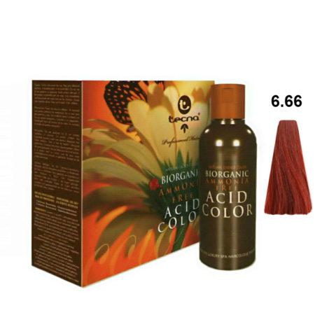 6.66 Blond foncé rouge rouge Tecna NCC Biorganic acid color 3x130ml
