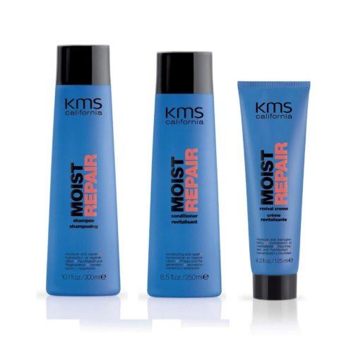 Kms California Kit4 MoistRepair Shampoo 300ml Conditioner 250ml Revival creme 125ml