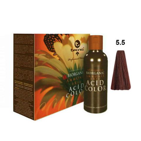 5.5 Brun clair acajou Tecna NCC Biorganic acid color 3x130ml