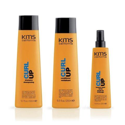 Kms california Kit5 Curlup Shampoo 300ml Conditioner 250ml Bounce Back 200ml
