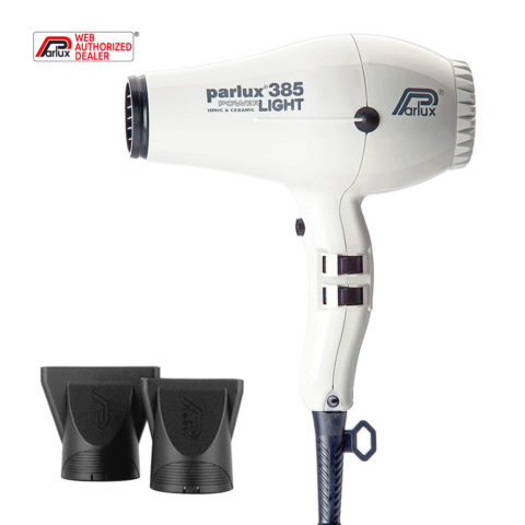 Parlux 385 Powerlight Ionic & Ceramic Blanc - sèche-cheveux
