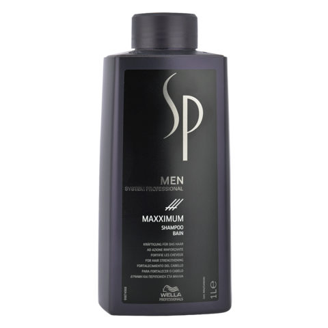 Wella SP Men Maxximum Shampoo 1000ml - shampooing antichute