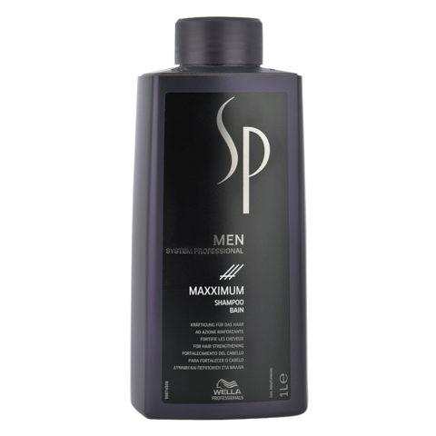 Wella System Professional Men Maxximum Shampoo 1000ml - shampooing antichute