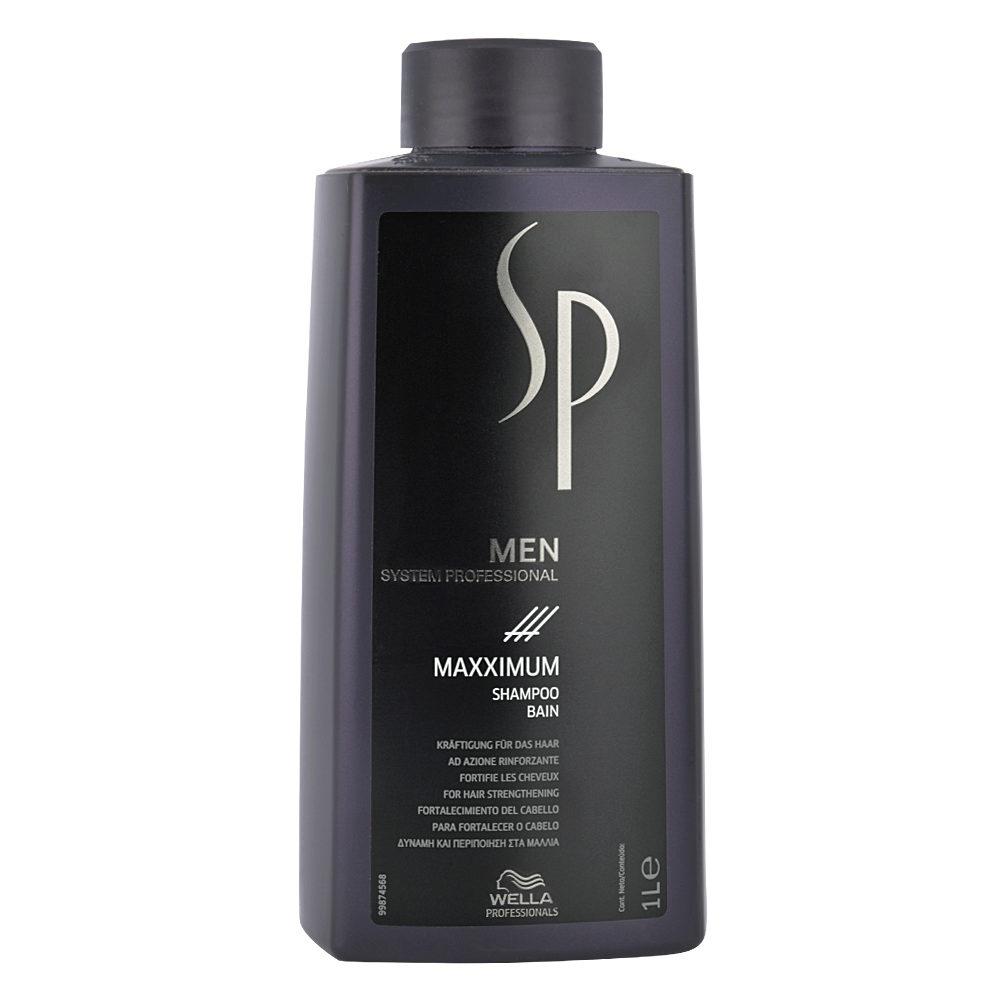Wella SP Men Maxximum Shampoo 1000ml - shampooing antichute