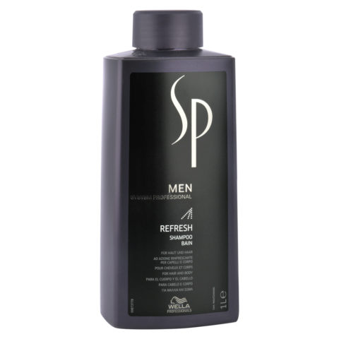 Wella System Professional Men Refresh Shampoo 1000ml - shampooing rafraîchissante