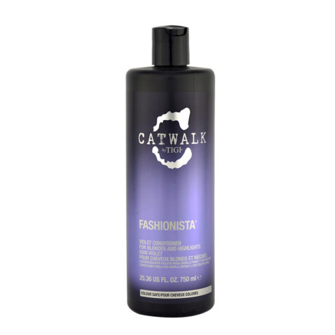 Tigi Catwalk Fashionista Violet conditioner 750ml - après-shampooing cheveux blonds
