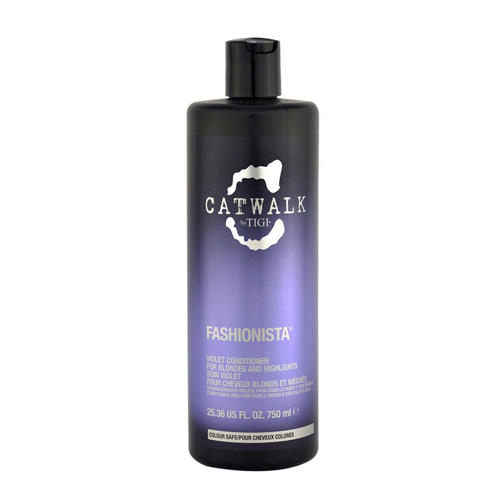 Tigi Catwalk Fashionista Violet conditioner 750ml - après-shampooing cheveux blonds