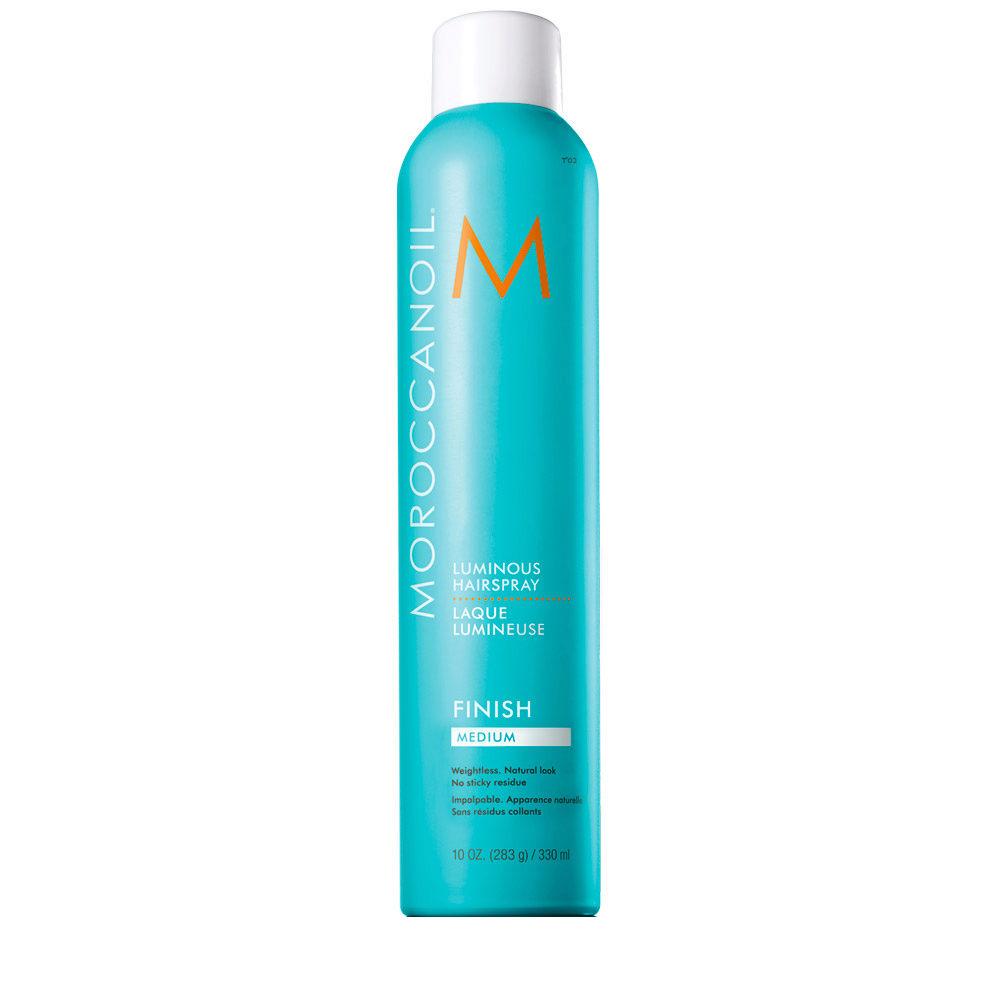 Moroccanoil Luminous Hairspray Finish Medium 330ml - laque lumineuse medium
