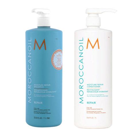 Moroccanoil Kit6 Moisture Repair Shampoo 1000ml e Conditioner 1000ml
