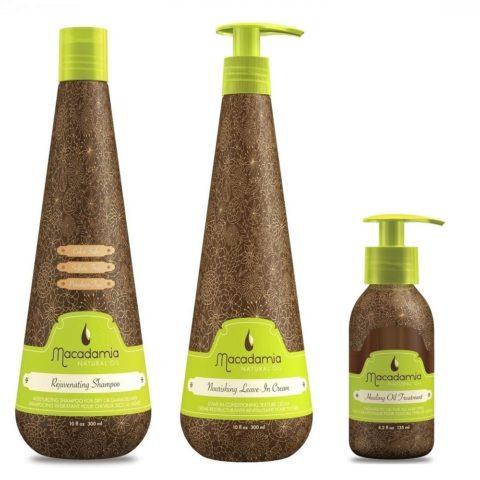 Macadamia Kit6: Rejuvenating Shampoo, Nourishing Leave-In, Healing Oil Treatment