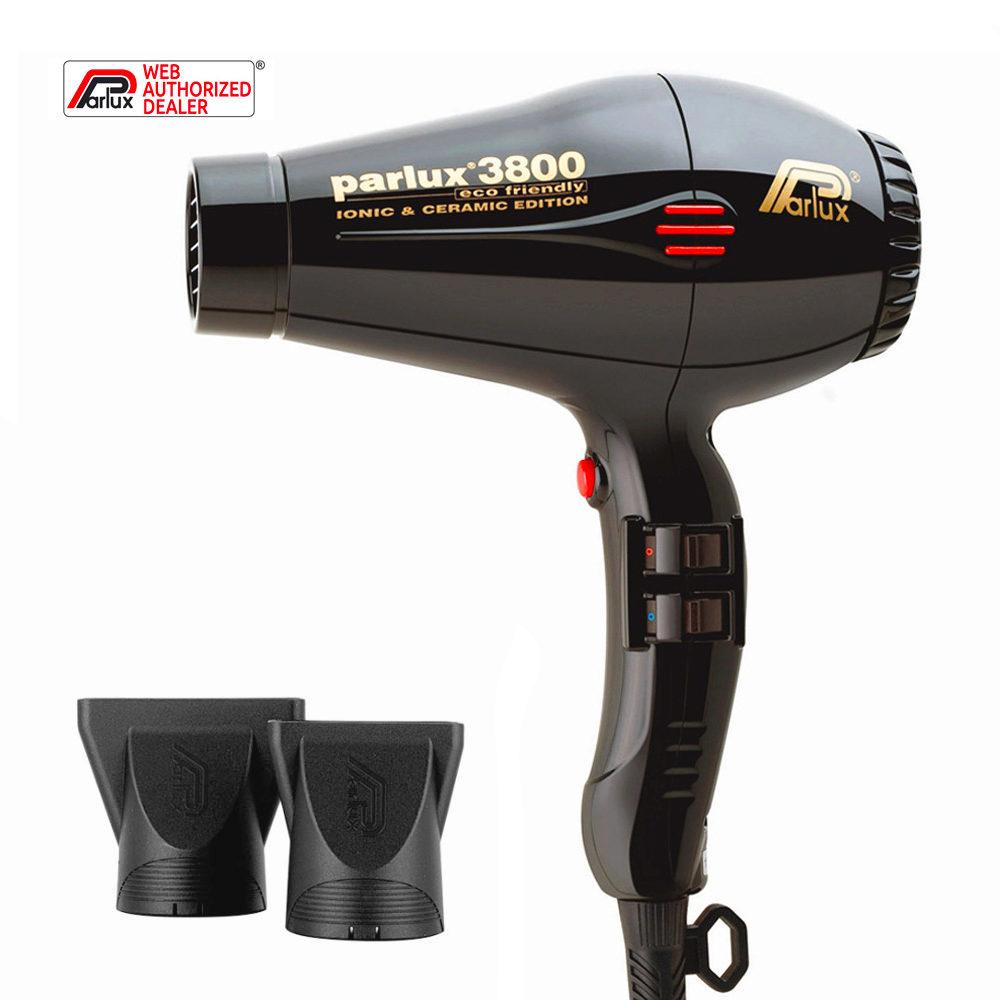 Parlux 3800 Eco Friendly Ionic & Ceramic Noir sèche cheveux