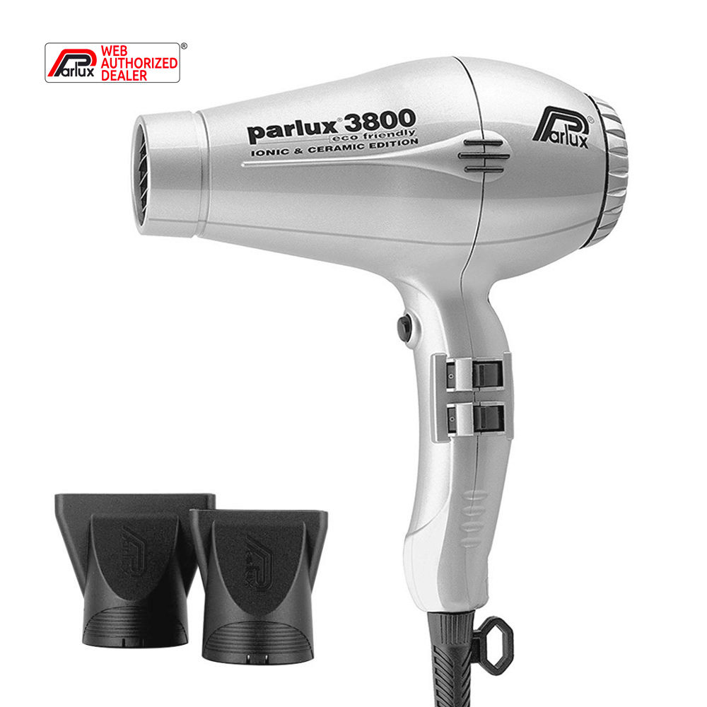 Parlux 3800 Eco Friendly Ionic & Ceramic Argent - sèche-cheveux