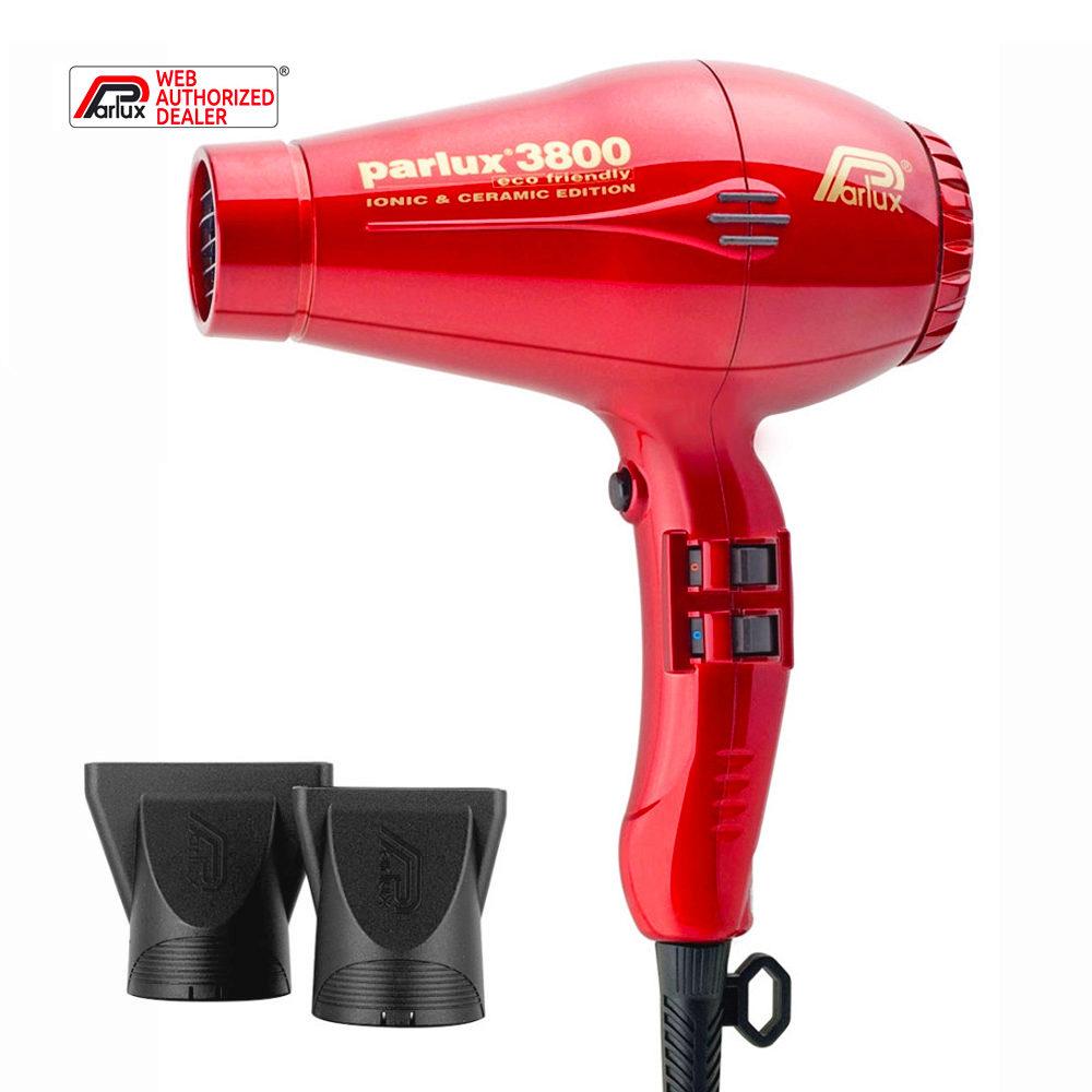 Parlux 3800 Eco Friendly Ionic & Ceramic Rouge - sèche-cheveux