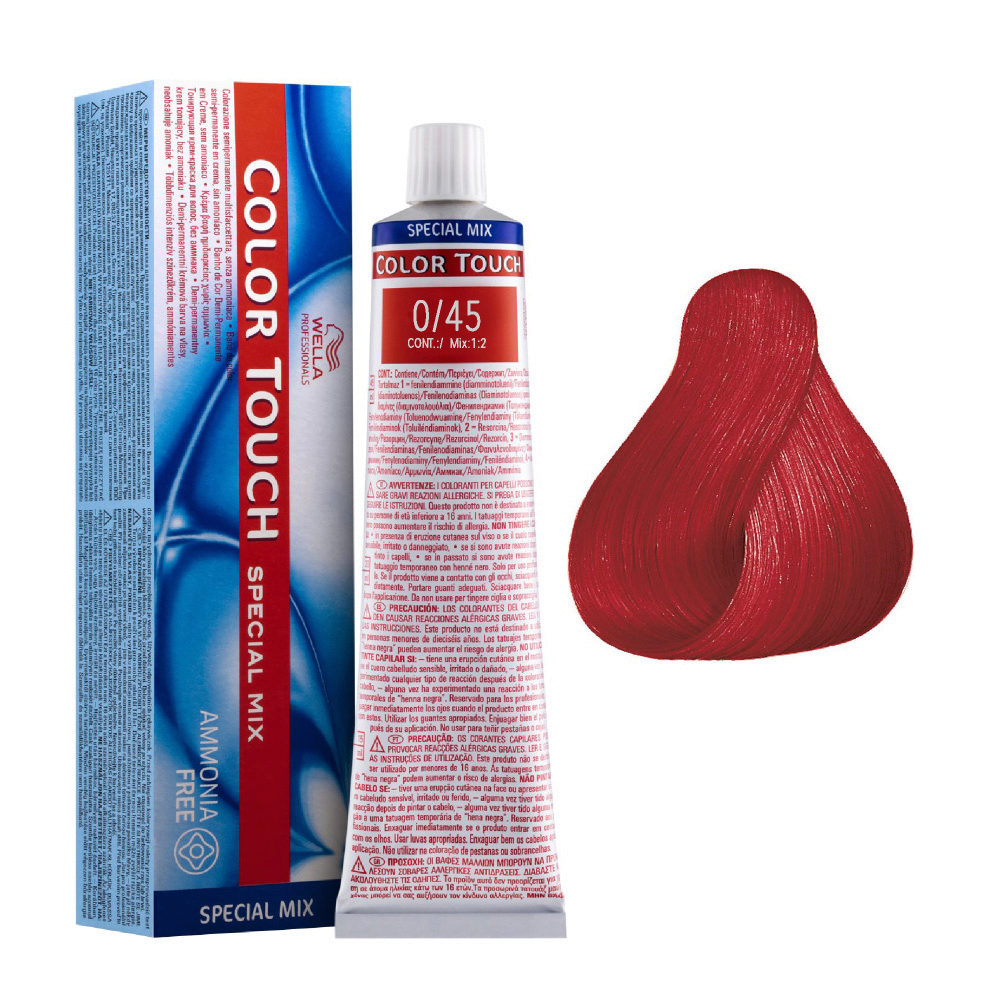 0/45 Rouge Wella Color touch Special mix Sans ammoniaque 60ml