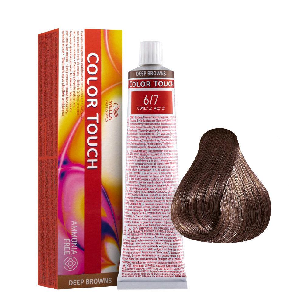 6/7 Blond Foncé Marron Wella Color Touch Deep Browns Sans ammoniaque 60ml