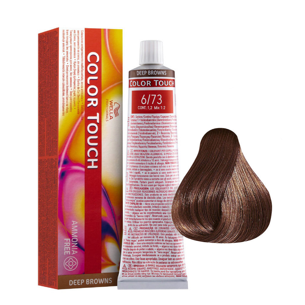 6/73 Blond foncé marron doré Wella Color Touch Deep Browns Sans ammoniaque 60ml