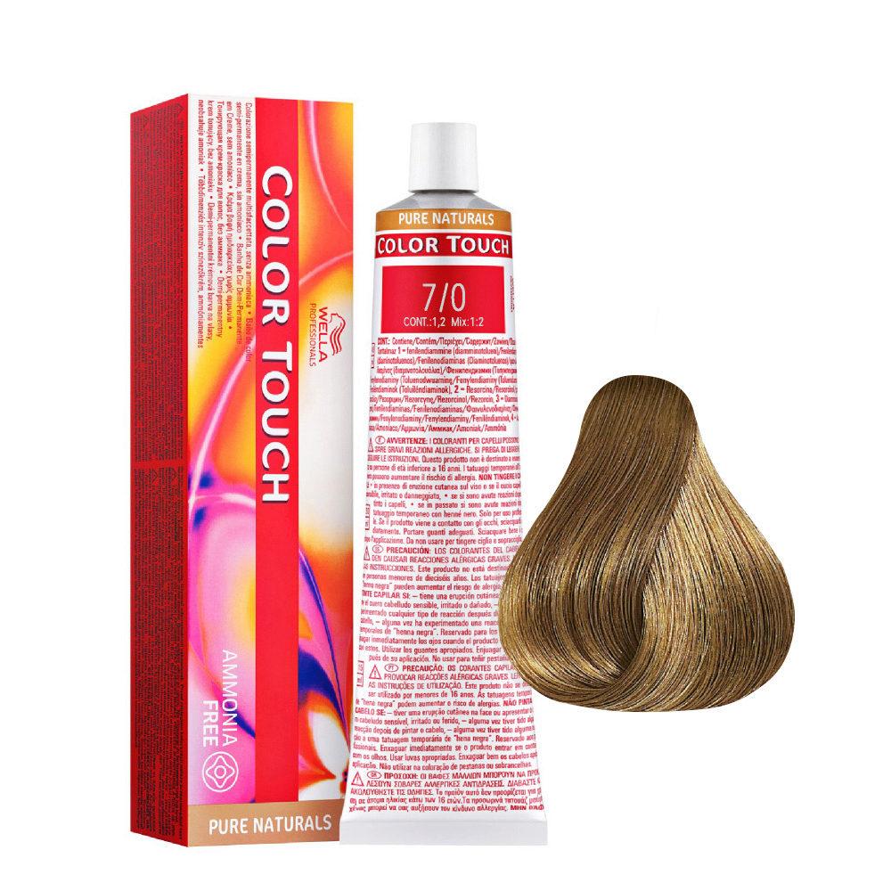 7/0 Blond moyen Wella Color Touch Pure Naturals Sans ammoniaque 60ml