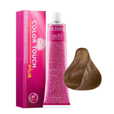 66/03 Blond foncé intense naturel doré Wella Color touch Plus Sans ammoniaque 60ml