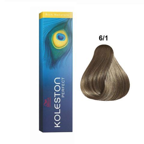6/1 Blond foncé cendré Wella Koleston Perfect Rich Naturals 60ml