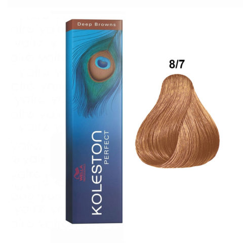 8/7 Blond Clair Marron Wella Koleston Perfect 60ml