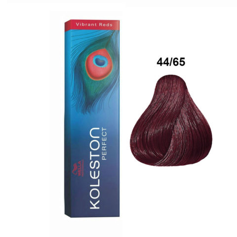44/65 Châtain moyen intense violet acajou Wella Koleston perfect Vibrant reds 60ml