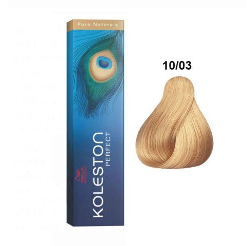 10/03 Blond très clair éclaircissant naturel doré Wella Koleston Perfect Pure naturals