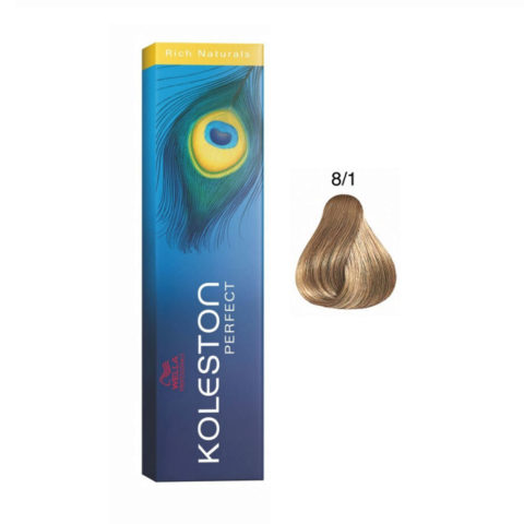 8/1 Blond clair cendre Wella Koleston Perfect Rich Naturals 60ml