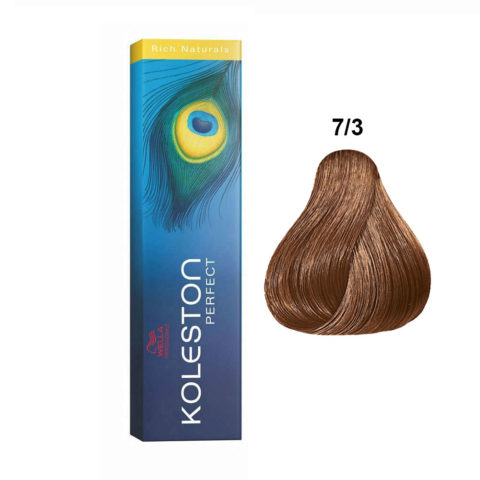 7/3 Blond moyenne doré Wella Koleston Perfect Rich naturals 60ml