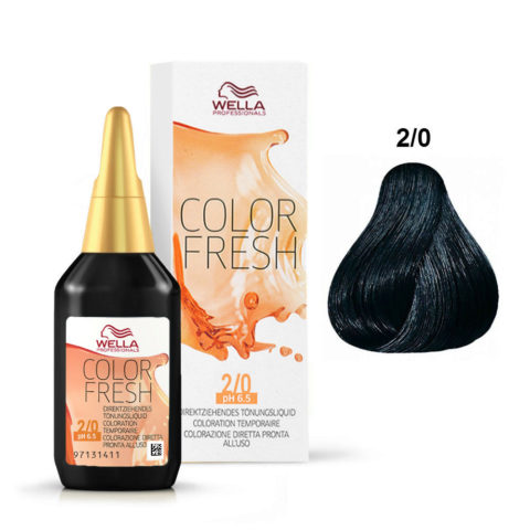 2/0 Noir Wella Color fresh 75ml