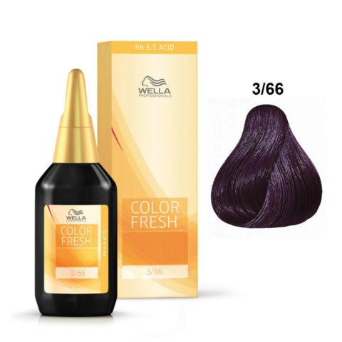 3/66 Châtain foncé violet intense Wella Color fresh 75ml