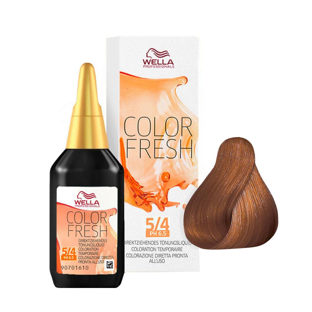 5/4 Châtain clair cuivré Wella Color fresh 75ml