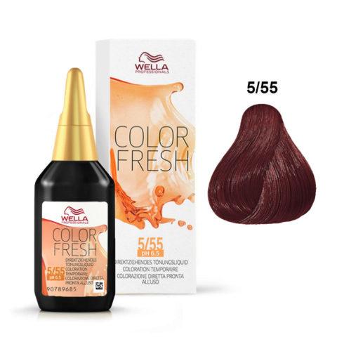 5/55 Châtain clair acajou intense Wella Color fresh 75ml