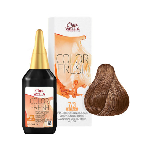 7/3 Blond moyen doré Wella Color fresh 75ml
