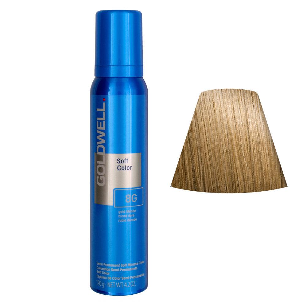 Goldwell Colorance soft color / Coloration directe traitante en mousse 8G Blonde Or 125ml