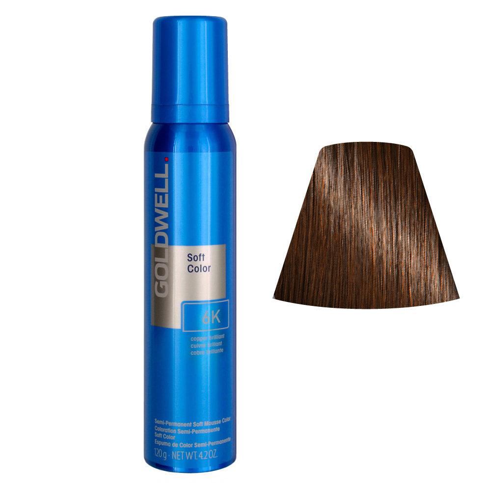 Goldwell Colorance soft color / Coloration directe traitante en mousse 6K Copper Brilliant 125ml