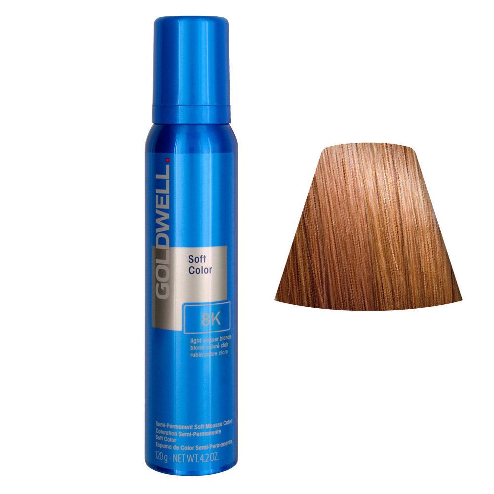 Goldwell Colorance soft color / Coloration directe traitante en mousse 8K Light Copper Blonde 125ml