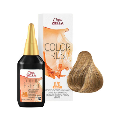 8/0 Blond clair Wella Color fresh 75ml