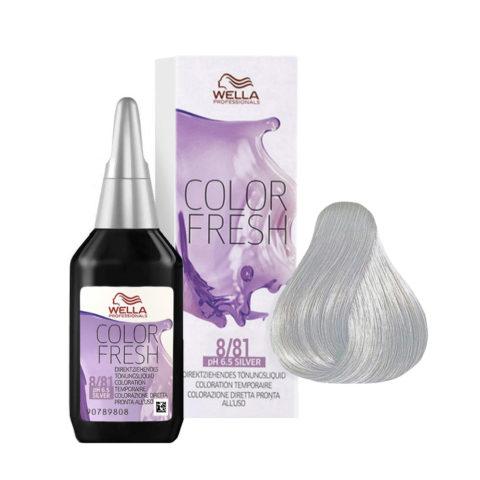 8/81 Blond clair perlé cendré Wella Color fresh Silver 75ml