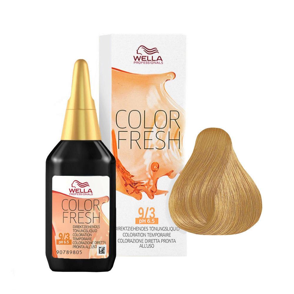 9/3 Blond très clair doré Wella Color fresh 75ml