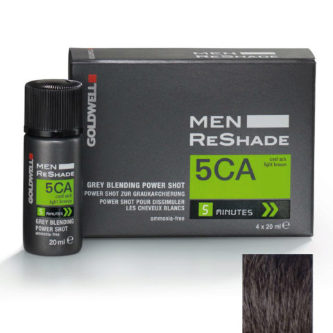 Goldwell Color men reshade 5CA brun clair cendré froid CFM 4x20ml