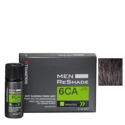 Goldwell Color men reshade 6CA blond foncé cendré froid CFM 4x20ml
