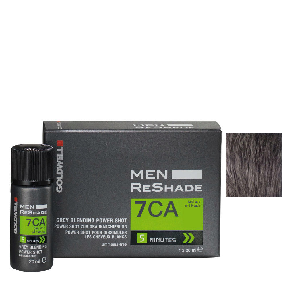 Goldwell Color men reshade 7CA blond moyen cendré froid CFM 4x20ml