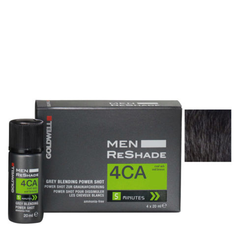 Goldwell Color men reshade 4CA brun cendré moyen froid CFM 4x20ml