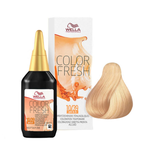 10/39 Platine doré cendré Wella Color fresh 75ml