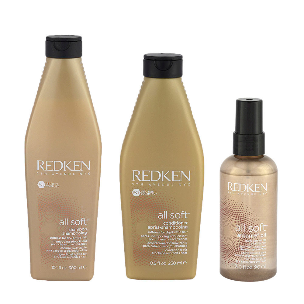 Redken Kit All soft Shampoo 300ml   Conditioner 250ml   Argan-6 olio 90ml